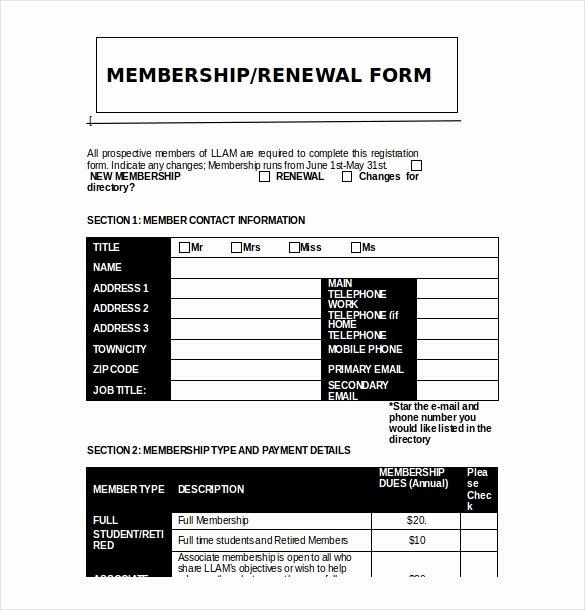 Sample Church Membership form Template Fresh Church Member Information form Template