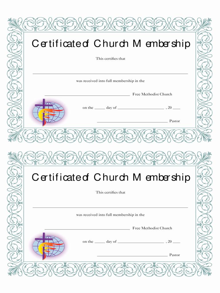 Sample Church Membership form Template Fresh Membership Certificate 6 Free Templates In Pdf Word