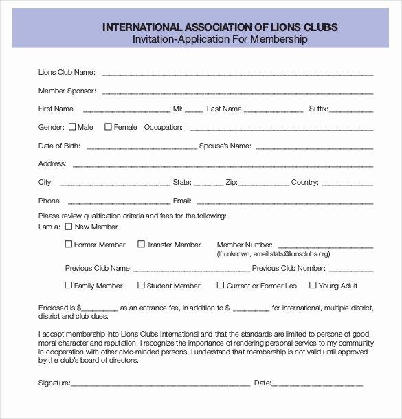 Sample Church Membership form Template Inspirational 15 Membership Application Templates – Free Sample