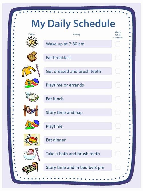Sample Daily Schedule Template Elegant Creating Structure Activities Essentials