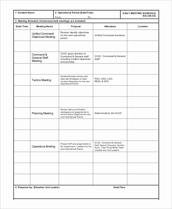 Sample Daily Schedule Template Lovely Sample Meeting Schedule 13 Examples In Word Pdf