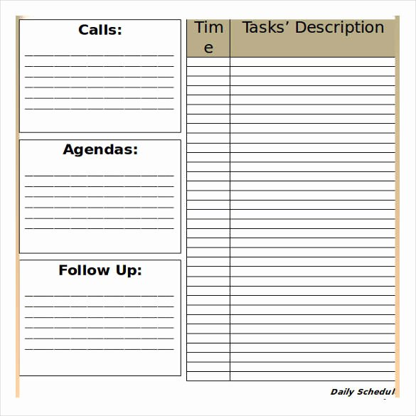 Sample Daily Schedule Template Unique Free 32 Schedule Templates
