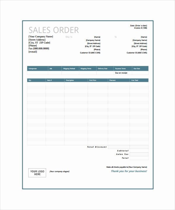 Sample order form Template Beautiful Free 20 order form Templates In Pdf Word