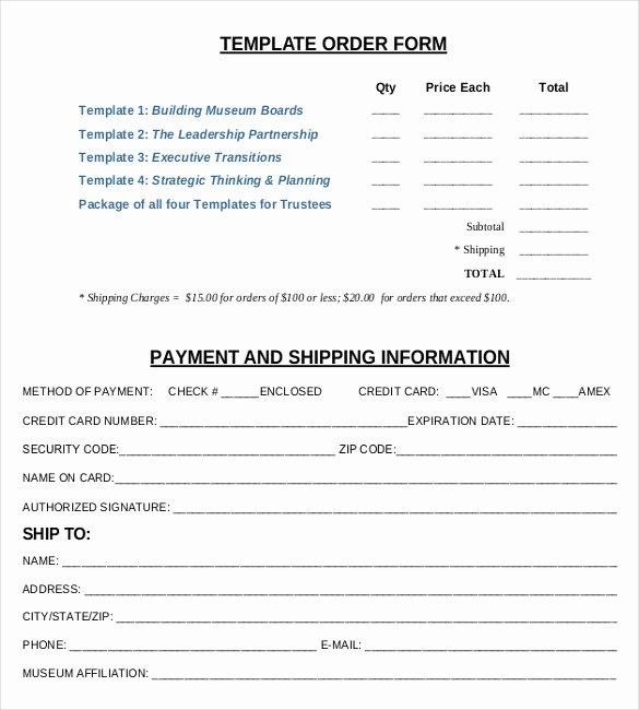 Sample order form Template Elegant 21 order form Templates – Free Sample Example format