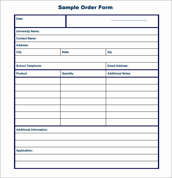 Sample order forms Template Awesome order form Template 19 Download Free Documents In Pdf