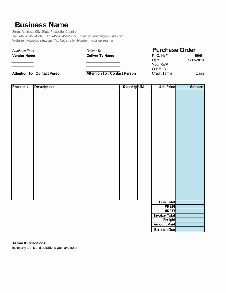 Sample order forms Template Beautiful 40 Free Purchase order Templates forms