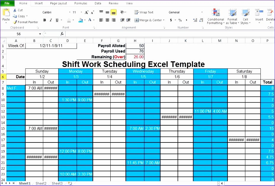 Schedule C Excel Template Luxury 6 Free Excel Work Schedule Template Exceltemplates