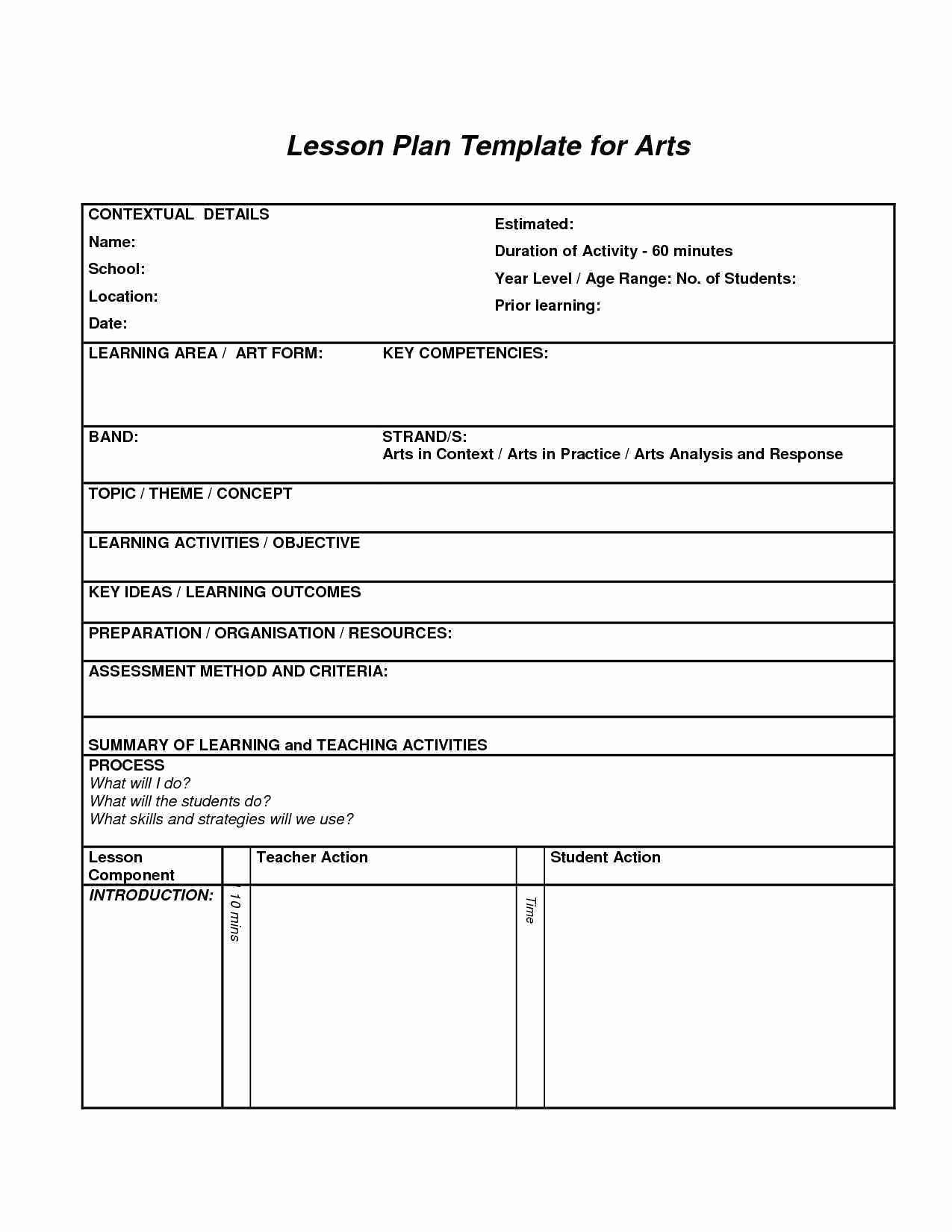 School Age Lesson Plans Template Best Of 12 13 Lesson Plan Template for Adults