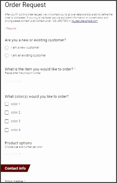 School Fundraiser order form Template Beautiful 9 Blank Purchase order form Template Sampletemplatess