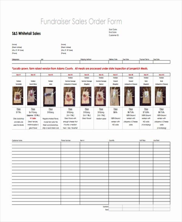 School Fundraiser order form Template Lovely 8 Fundraiser order forms Free Sample Example format