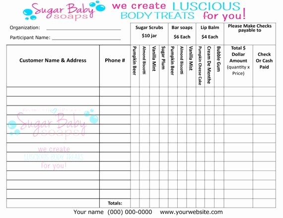 School Fundraiser order form Template Luxury Customized Fundraiser order formdigital File Onlycustomize