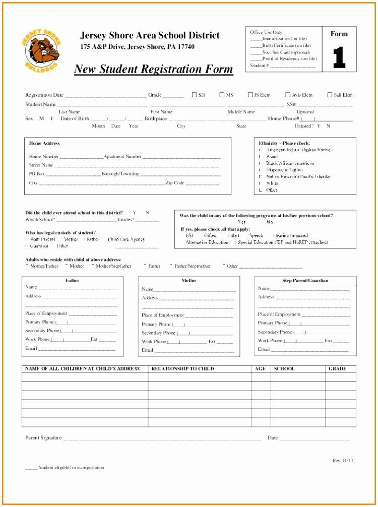 School Registration form Template Beautiful 7 Sunday School Registration form Template Cutei
