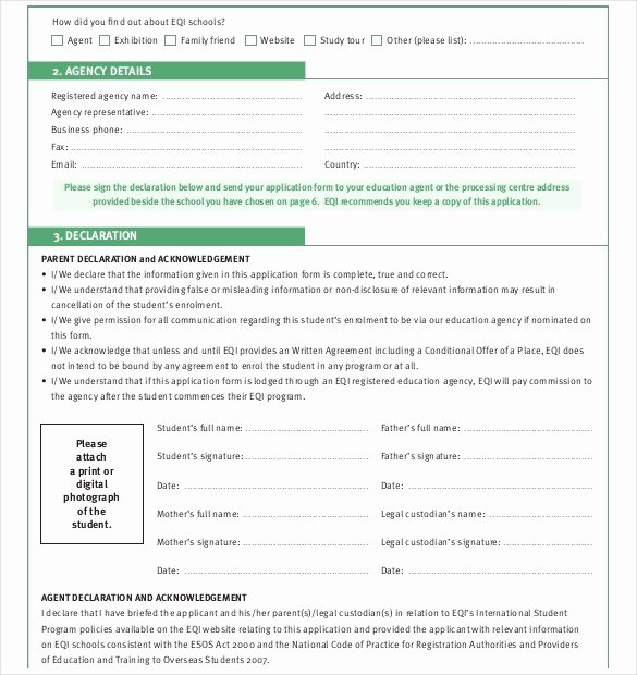 School Registration form Template New School Admission form Template Word – Dlword