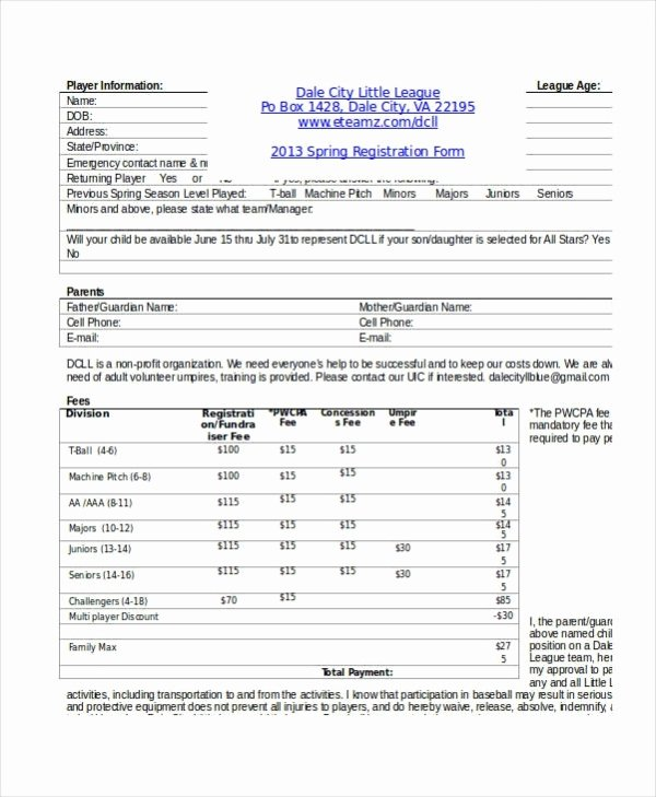 School Registration forms Template Beautiful Registration form Template 11 Free Pdf Word Documents