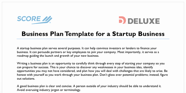 Scores Business Plan Template Fresh How to Write A Business Plan for Your Online Business