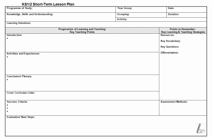 Secondary Lesson Plan Template New Adaptable Lesson Plan Template for Ks1 and Ks2