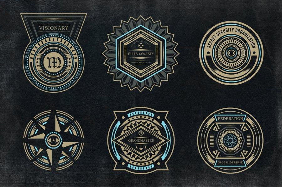 Secret society Invitation Template Inspirational Secret society Badges 3 Objects On Creative Market