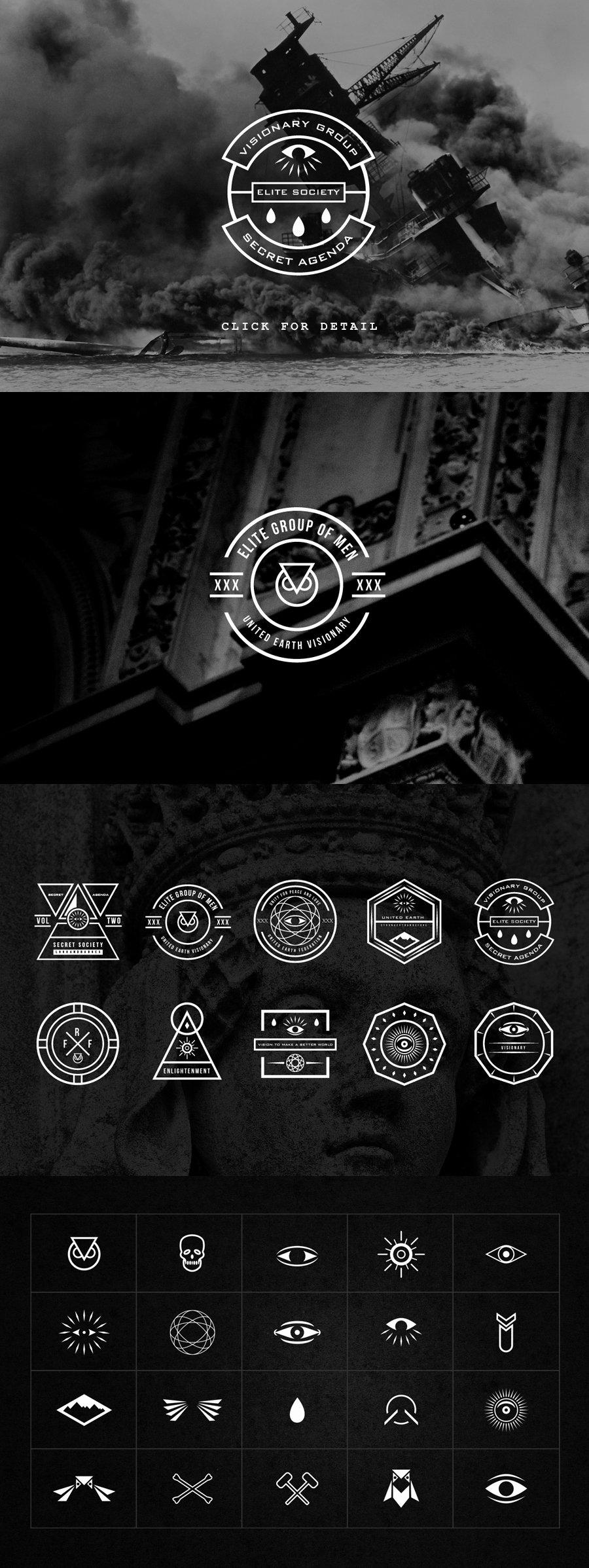 Secret society Invitation Template Inspirational Secret society Bundle Objects On Creative Market
