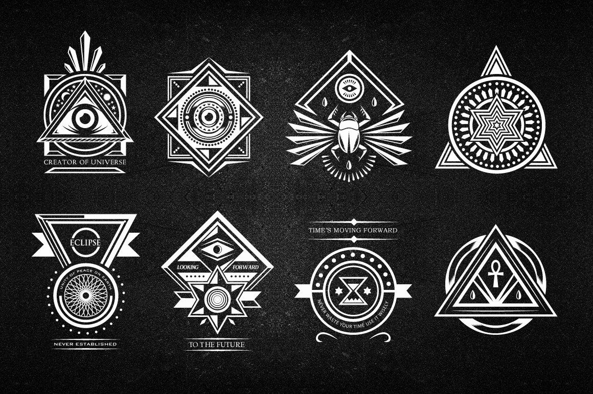 Secret society Invitation Template Lovely Secret society Badges Objects On Creative Market