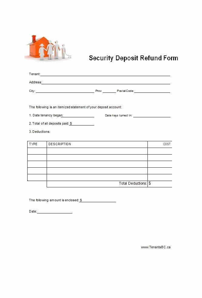 Security Deposit Return form Template Best Of 50 Effective Security Deposit Return Letters [ms Word]
