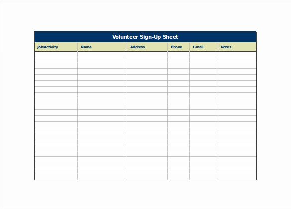 Sign Up form Template Word Awesome Sign Up Sheet Template 13 Download Free Documents In