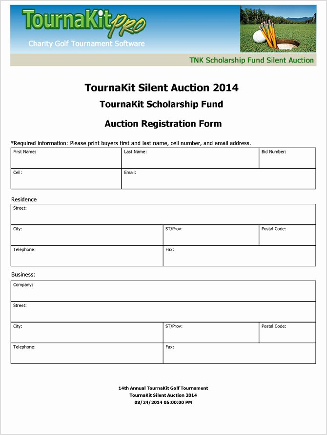 Silent Auction Donation form Template Beautiful Charity Auction forms 108 Silent Auction Bid