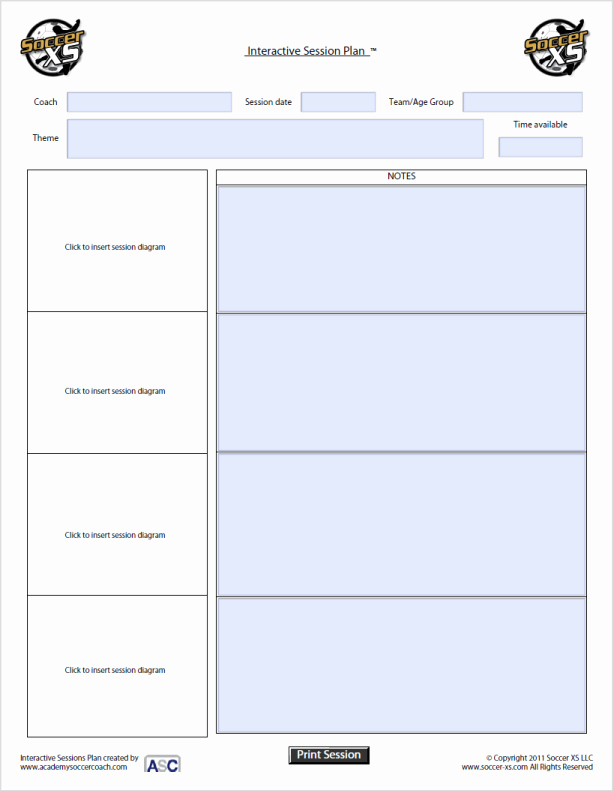 Soccer Session Plan Template Luxury 26 Of Blank soccer Session Plan Template