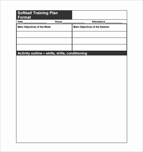 Soccer Session Plan Template Luxury 28 Of softball Practice Plan Template Printable