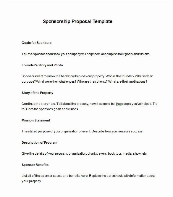 Sponsorship form Template Word Best Of Sponsorship Proposal Template 22 Free Word Excel Pdf