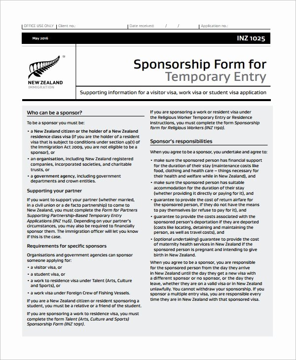 Sponsorship form Template Word Luxury 10 Sponsorship form Templates