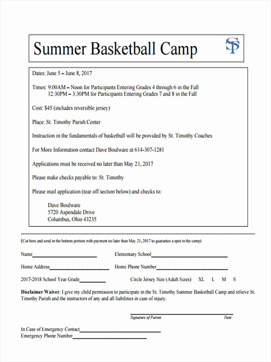 Sports Waiver form Template Inspirational Free 7 Sample Basketball Waiver forms In Word