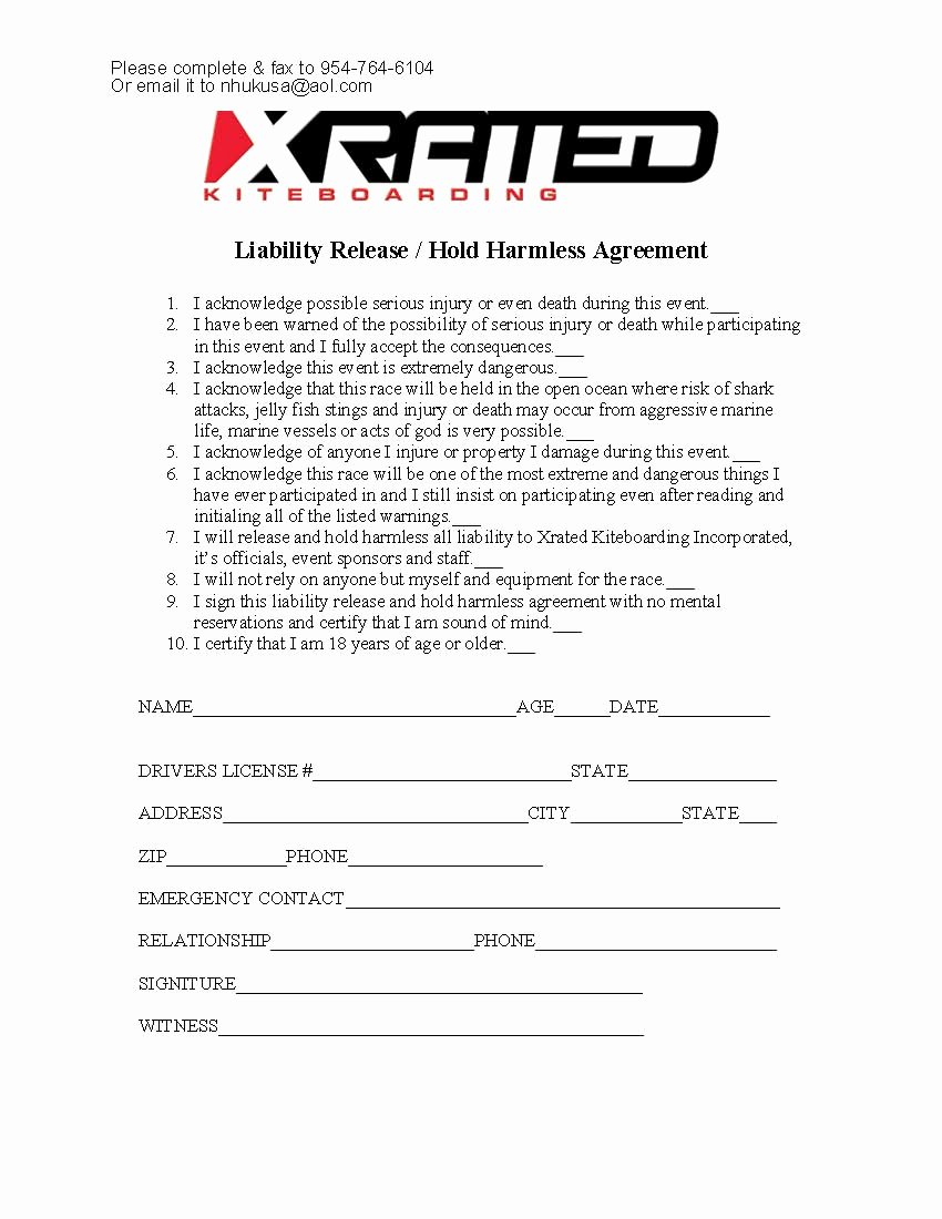 Sports Waiver form Template Inspirational Sports Waiver form Medical Waiver form Picture Waiver