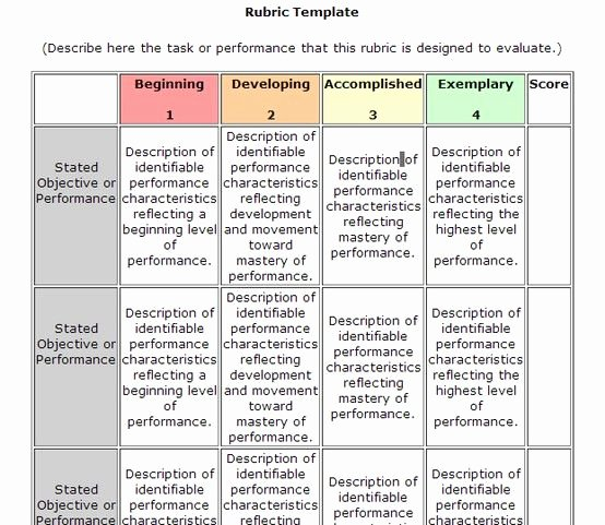 Standard Based Lesson Plan Template Unique Rubric Template More Electronics