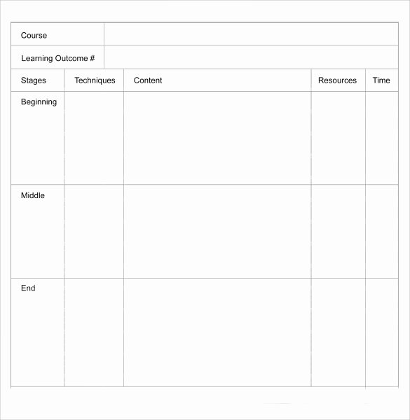 Standard Lesson Plan Template Luxury Blank Lesson Plan Template 11 Download Free Samples