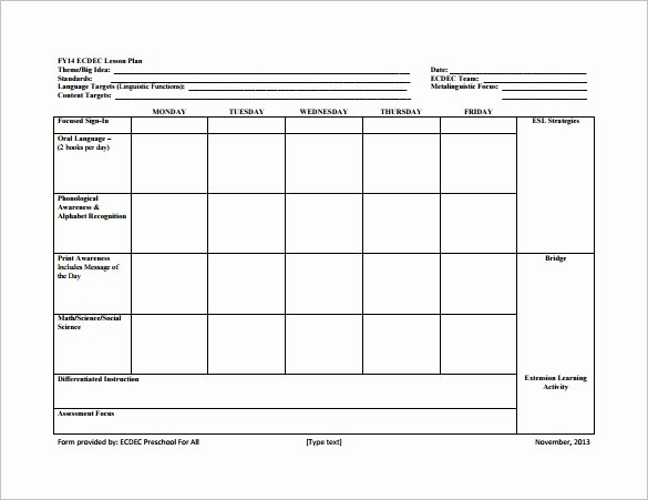 Standard Lesson Plan Template Unique 8 Lesson Plan Templates – Free Sample Example format