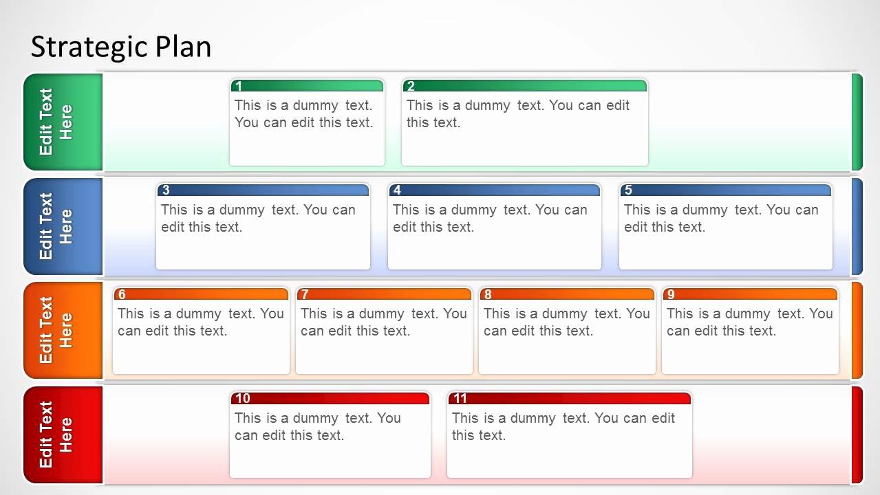 Strategic Plan Powerpoint Template Best Of Basic Strategic Plan Template for Powerpoint Slidemodel