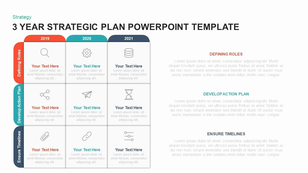 Strategic Plan Template Ppt Unique 3 Year Strategic Plan Powerpoint Template & Kaynote