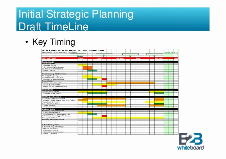Strategic Plan Timeline Template Awesome Strategic Brand Management