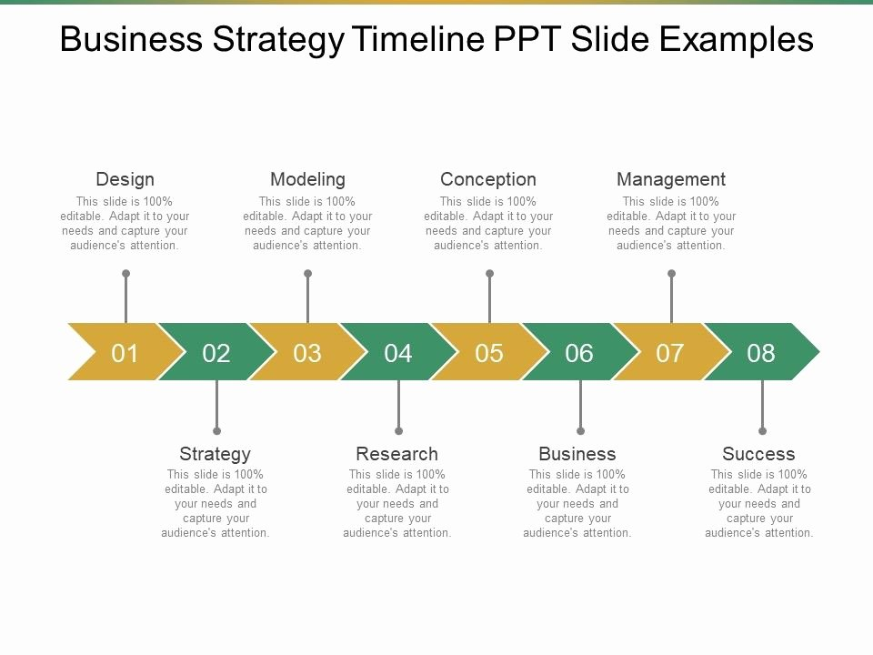 Strategic Plan Timeline Template Best Of Business Strategy Timeline Ppt Slide Examples