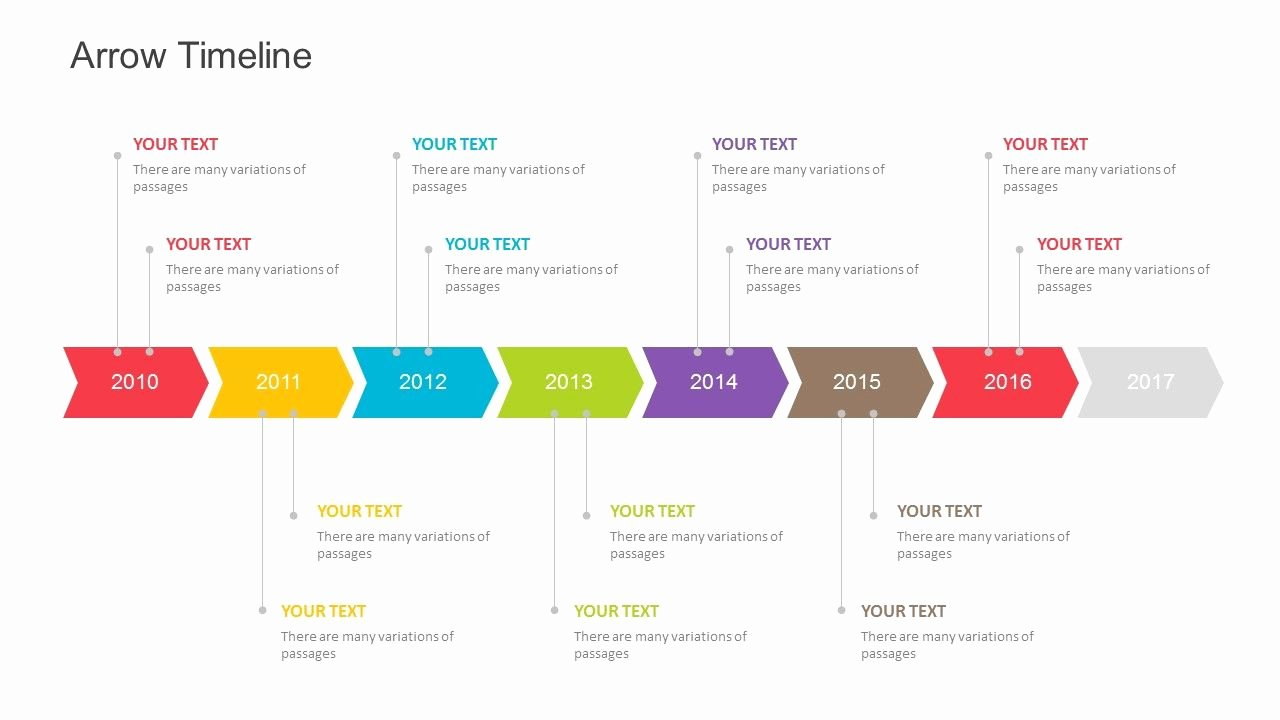 Strategic Plan Timeline Template Elegant Arrow Timeline Template for Powerpoint Fully Editable