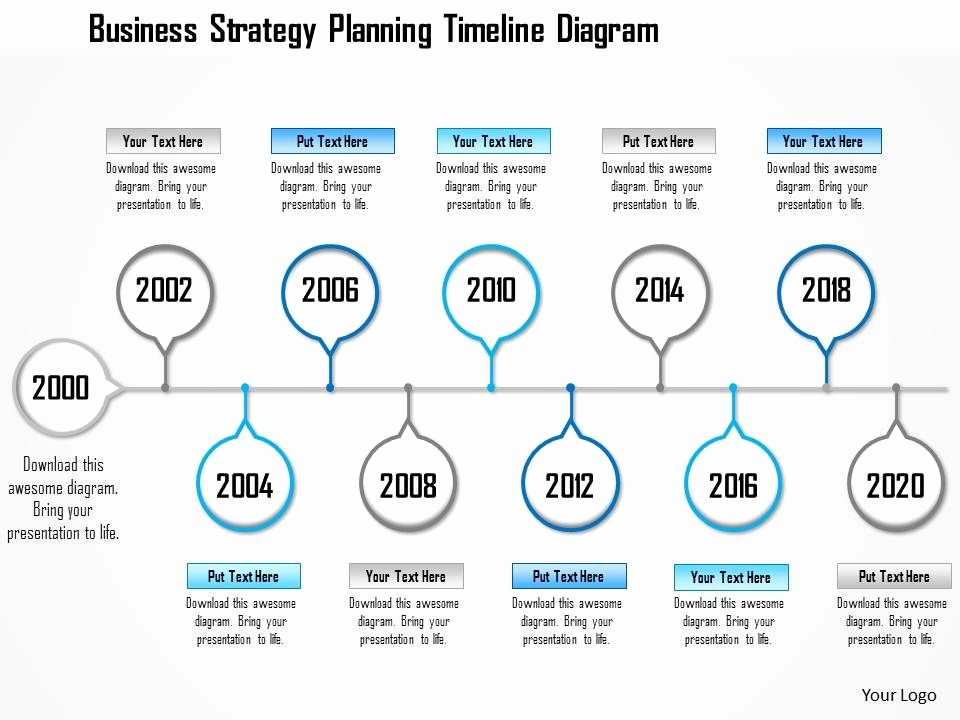 Strategic Plan Timeline Template New 1214 Business Strategy Planning Timeline Diagram