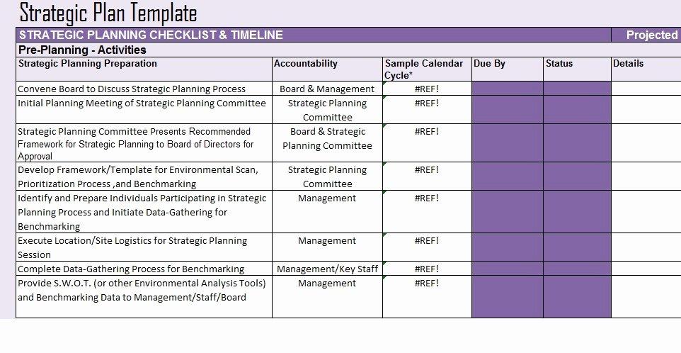 Strategic Planning Template Excel Fresh Free Strategic Plan Template Project Management Excel