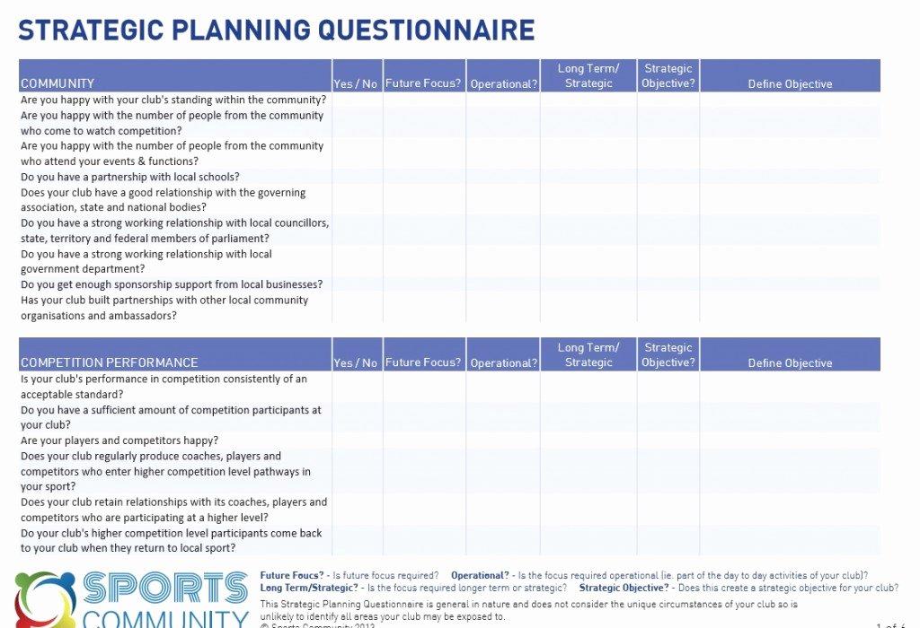 Strategic Planning Template Excel Inspirational Strategic Planning Template