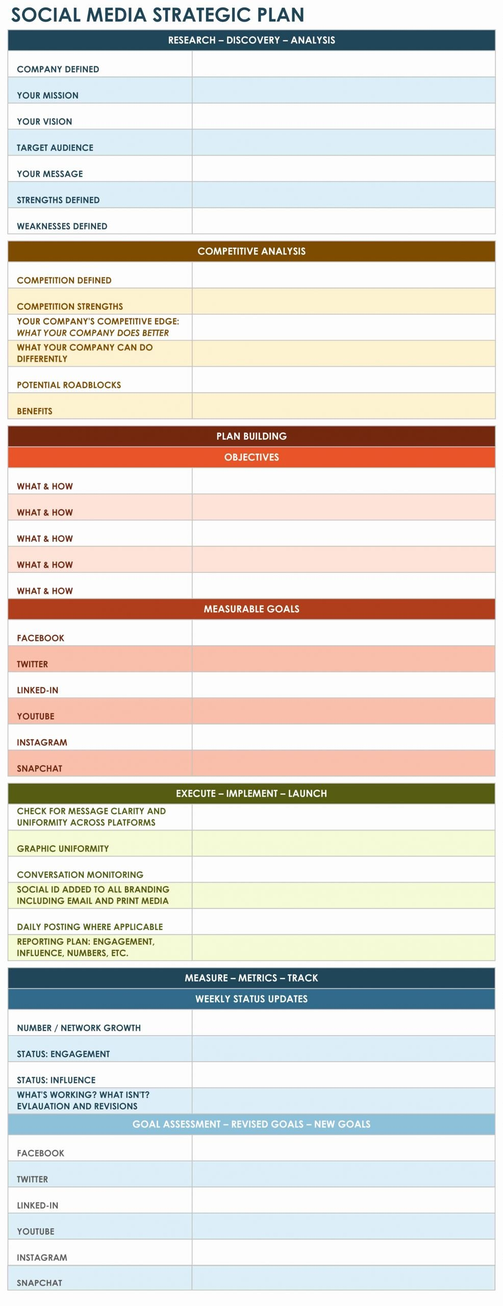 Strategic Planning Template Excel Lovely 9 Free Strategic Planning Templates Smartsheet