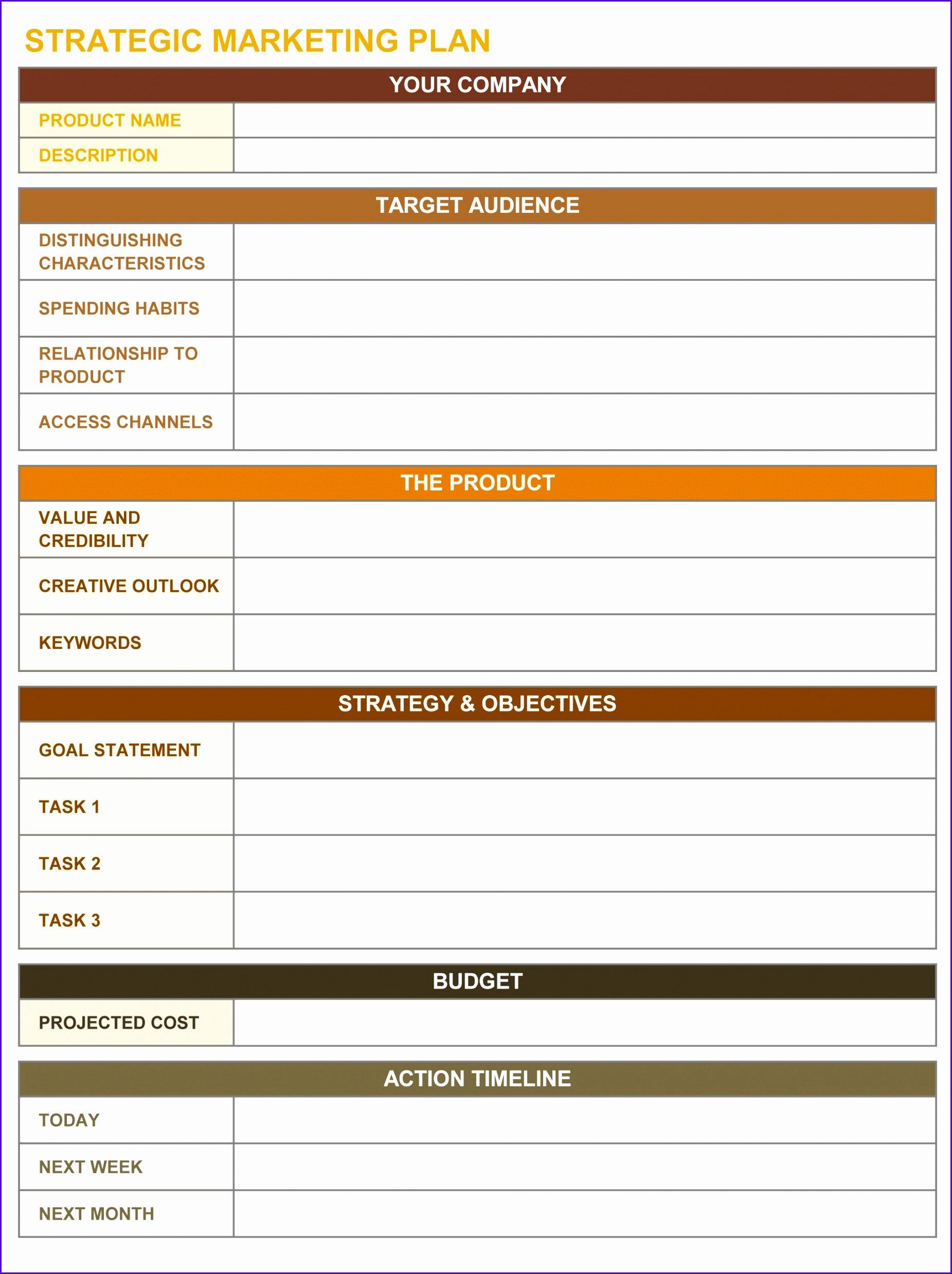 Strategic Planning Template Excel New 10 Goals Template Excel Exceltemplates Exceltemplates