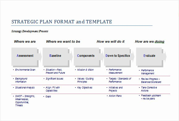 Strategic Planning Template Free Awesome Free 25 Strategic Plan Templates Free Samples Examples