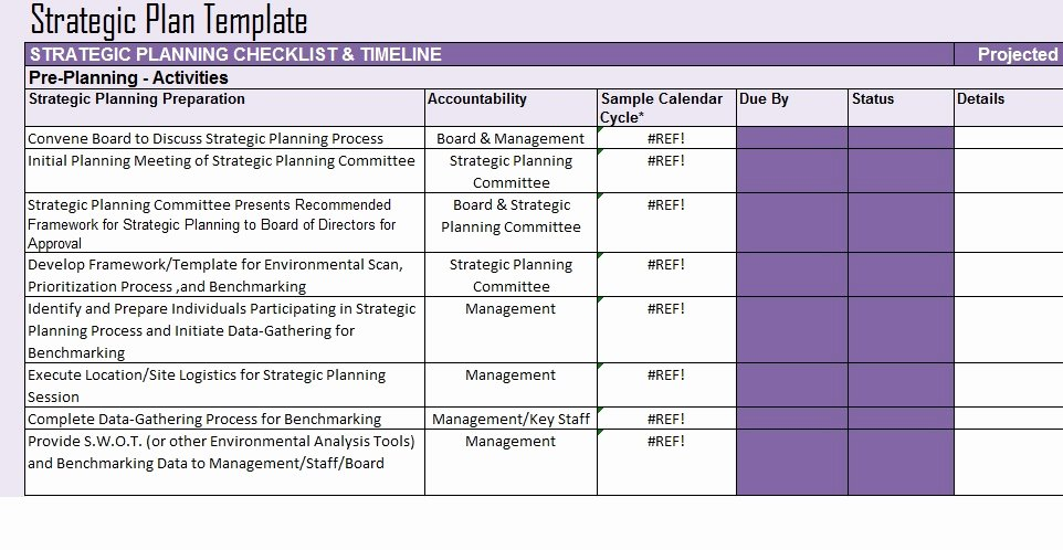 Strategic Planning Template Free Inspirational Free Strategic Plan Template Project Management Excel