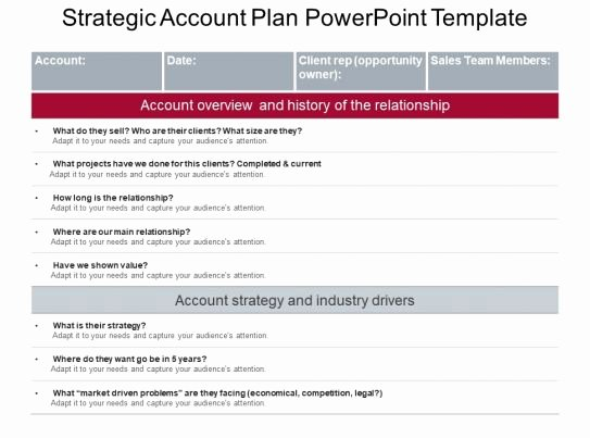 Strategic Planning Template Ppt Inspirational Strategic Account Plan Powerpoint Template