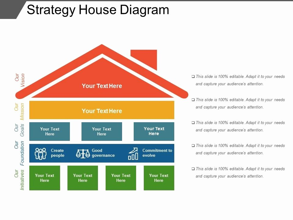 Strategy Plan Template Powerpoint Inspirational Strategy House Diagram Powerpoint Layout