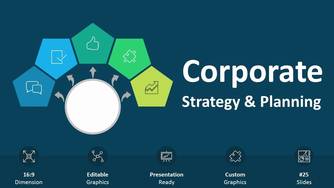 Strategy Plan Template Powerpoint Lovely Corporate Strategy and Planning Editable Powerpoint